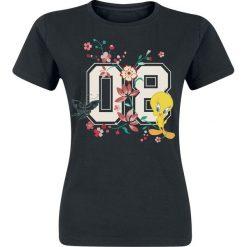 Looney Tunes Tweety - 08 Koszulka damska czarny. Czarne bluzki damskie Looney Tunes, l, z nadrukiem, z okrągłym kołnierzem. Za 54,90 zł.