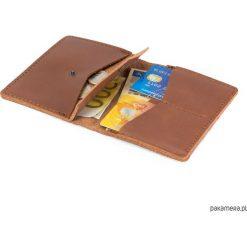 Portfele męskie: Cienki, skórzany portfel CECHINI na karty Brąz