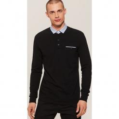 Koszulka polo z długim rękawem - Czarny. Czarne koszulki polo House, l, z długim rękawem. Za 69,99 zł.