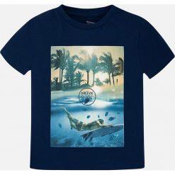 Mayoral - T-shirt dziecięcy 128-172 cm. Niebieskie t-shirty męskie z nadrukiem Mayoral, z bawełny. Za 69,90 zł.