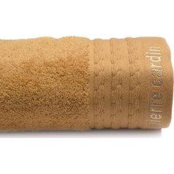 Kąpielówki męskie: Ręcznik w kolorze jasnobrązowym