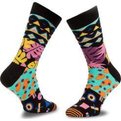 Skarpety Wysokie Unisex HAPPY SOCKS - MIM1001-9001 Kolorowy. Czarne skarpetki męskie marki Happy Socks, w kolorowe wzory, z bawełny. Za 34,90 zł.