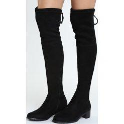 Buty zimowe damskie: Czarne Kozaki Incipiently