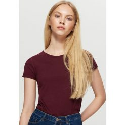 Bluzki, topy, tuniki: Koszulka z emblematem - Bordowy