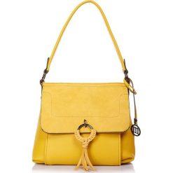 """Torebki klasyczne damskie: Torebka """"Madison"""" w kolorze żółtym – 28 x 30 x 15 cm"""