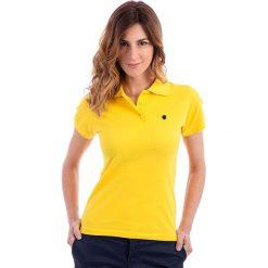 Topy sportowe damskie: Koszulka polo w kolorze żółtym