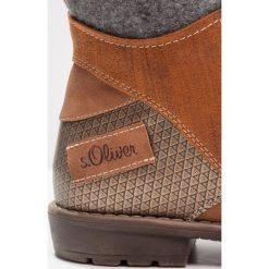 S.Oliver RED LABEL Botki sznurowane cognac. Brązowe buty zimowe damskie marki s.Oliver RED LABEL, z materiału, na sznurówki. W wyprzedaży za 136,95 zł.
