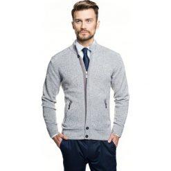 Sweter cheney stójka szary. Szare swetry klasyczne męskie Recman, m, ze stójką. Za 249,00 zł.