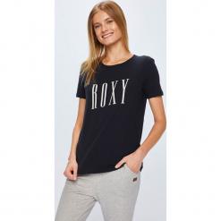 Roxy - Top. Szare topy damskie Roxy, l, z nadrukiem, z bawełny, z okrągłym kołnierzem. Za 79,90 zł.