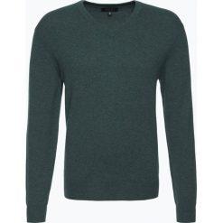 Swetry klasyczne męskie: Andrew James – Sweter męski z czystego kaszmiru, zielony