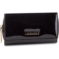 Duży Portfel Damski MONNARI - PUR0701-020 Black Lacquer. Czarne portfele damskie Monnari, z lakierowanej skóry. W wyprzedaży za 159,00 zł.