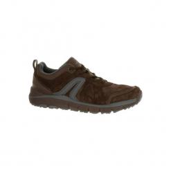 Buty męskie do szybkiego marszu HW 540 skórzane brązowe. Brązowe buty fitness męskie NEWFEEL, z gumy. Za 189,99 zł.
