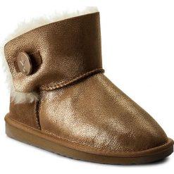 Buty EMU AUSTRALIA - Denman Mini W11255 Rose Gold. Żółte buty zimowe damskie EMU Australia, ze skóry. Za 639,00 zł.