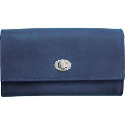 Skórzany portfel w kolorze granatowym - 18 x 11 x 4 cm. Portfele damskie Marc O'Polo Accessoires, z materiału. W wyprzedaży za 227,95 zł.