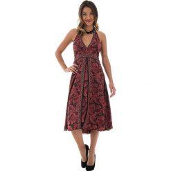 Sukienki: Sukienka w kolorze czerwono-czarnym