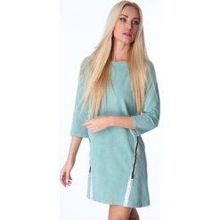 Sukienka z ozdobną taśmą zielona 3778. Zielone sukienki Fasardi, l. Za 61,00 zł.