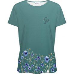 Colour Pleasure Koszulka damska CP-030 251 zielona r. XXXL/XXXXL. Fioletowe bluzki damskie marki Colour pleasure, uniwersalny. Za 70,35 zł.