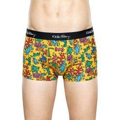 Happy Socks - Bokserki Keith Haring All Over Trunk. Brązowe bokserki męskie Happy Socks, z bawełny. W wyprzedaży za 79,90 zł.