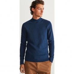 Sweter z półgolfem - Granatowy. Niebieskie swetry klasyczne męskie marki Cropp, l. Za 119,99 zł.