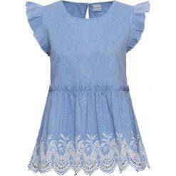 Bluzki damskie: Bluzka z haftem bonprix jasnoniebieski