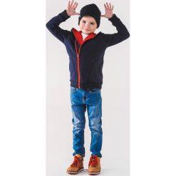Odzież dziecięca: BLUZA DZIECIĘCA ROZPINANA Z KAPTUREM KB001 - GRANATOWA/CZERWONA