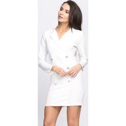 Sukienki: Biała Sukienka Unclassic Tuxedo