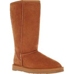 Kozaki w kolorze jasnobrązowym. Brązowe buty zimowe damskie Carla Samuel. W wyprzedaży za 149,95 zł.