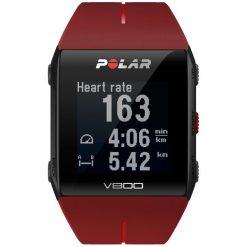 Zegarki męskie: Zegarek sportowy z wbudowanym GPS czerwony HR Polar V800