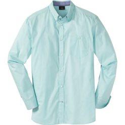 Koszula z długim rękawem bonprix jasny turkusowy. Białe koszule męskie marki bonprix, z klasycznym kołnierzykiem, z długim rękawem. Za 69,99 zł.
