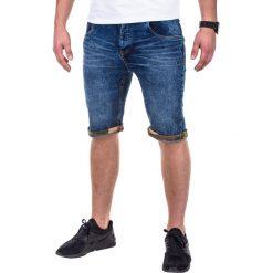 KRÓTKIE SPODENKI MĘSKIE JEANSOWE P415 - NIEBIESKIE. Niebieskie spodenki jeansowe męskie marki ARTENGO, l. Za 29,00 zł.