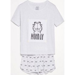 Piżama Garfield - Jasny szar. Szare piżamy damskie marki Lauren Ralph Lauren, l, z bawełny. Za 59,99 zł.