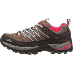 """Skórzane buty turystyczne """"Rigel"""" w kolorze czarno-jasnobrązowym. Czarne buty trekkingowe damskie marki The North Face. W wyprzedaży za 218,95 zł."""