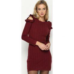 Sukienki: Bordowa Sukienka Layers Petal