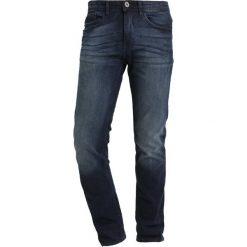 Blend SLIM FIT Jeansy Slim Fit denim darkblue. Brązowe rurki męskie marki Blend, l, z bawełny, bez kaptura. Za 169,00 zł.