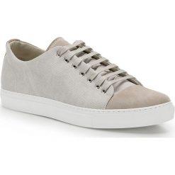 Buty męskie 86-M-050-9. Białe buty sportowe męskie marki Wittchen, z materiału, na sznurówki, tenisowe. Za 299,00 zł.