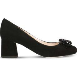 Czółenka ERI. Czarne buty ślubne damskie Gino Rossi, ze skóry, na słupku. Za 299,90 zł.