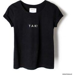 T-shirt czarny TAK!. Czarne t-shirty damskie marki KIPSTA, m, z elastanu, z długim rękawem, na fitness i siłownię. Za 79,00 zł.