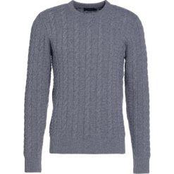 Hackett London CABLE CREW  Sweter grey. Szare swetry klasyczne męskie marki Hackett London, m, z kaszmiru. W wyprzedaży za 615,30 zł.