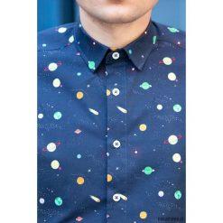 Koszula męska - Space. Białe koszule męskie na spinki marki Pakamera. Za 239,00 zł.