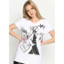 T-shirty damskie: Biały T-shirt The Town
