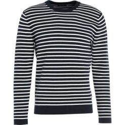 Swetry klasyczne męskie: J.LINDEBERG JUDE STRUCTURE STRIPE Sweter off white