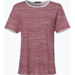 Marc O'Polo - T-shirt damski, różowy. Czerwone t-shirty damskie Marc O'Polo, l, w paski, z bawełny, polo. Za 119,95 zł.