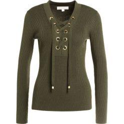 MICHAEL Michael Kors LACE UP  Sweter ivy. Brązowe swetry klasyczne damskie marki MICHAEL Michael Kors, xs, z materiału. W wyprzedaży za 408,85 zł.