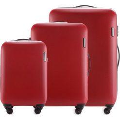 Zestaw walizek 56-3-61S-30. Czerwone walizki marki Wittchen, z gumy, duże. Za 694,71 zł.