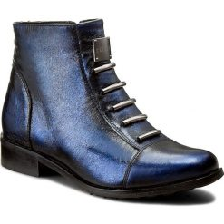 Botki EKSBUT - 66-4088-F63-1G Czarny/ Niebieski. Niebieskie botki damskie na obcasie Eksbut, ze skóry. W wyprzedaży za 249,00 zł.