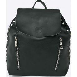 Answear - Plecak. Czarne plecaki damskie marki ANSWEAR, ze skóry ekologicznej. W wyprzedaży za 79,90 zł.