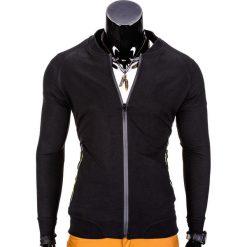 Bluzy męskie: BLUZA MĘSKA ROZPINANA BEZ KAPTURA B673 – CZARNA