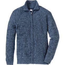 Kardigany męskie: Sweter rozpinany Regular Fit bonprix matowy niebieski - ciemnoniebieski melanż