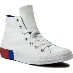 Trampki CONVERSE - Ctas Hi 159639C White/Red/Blue. Białe trampki męskie Converse, z gumy. W wyprzedaży za 219,00 zł.
