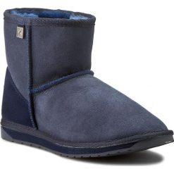 Buty EMU AUSTRALIA - Platinum Stinger Mini WP10003 Indigo. Niebieskie buty zimowe damskie marki EMU Australia, ze skóry, na niskim obcasie. W wyprzedaży za 399,00 zł.